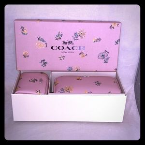 Boxed Coach cosmetic bags